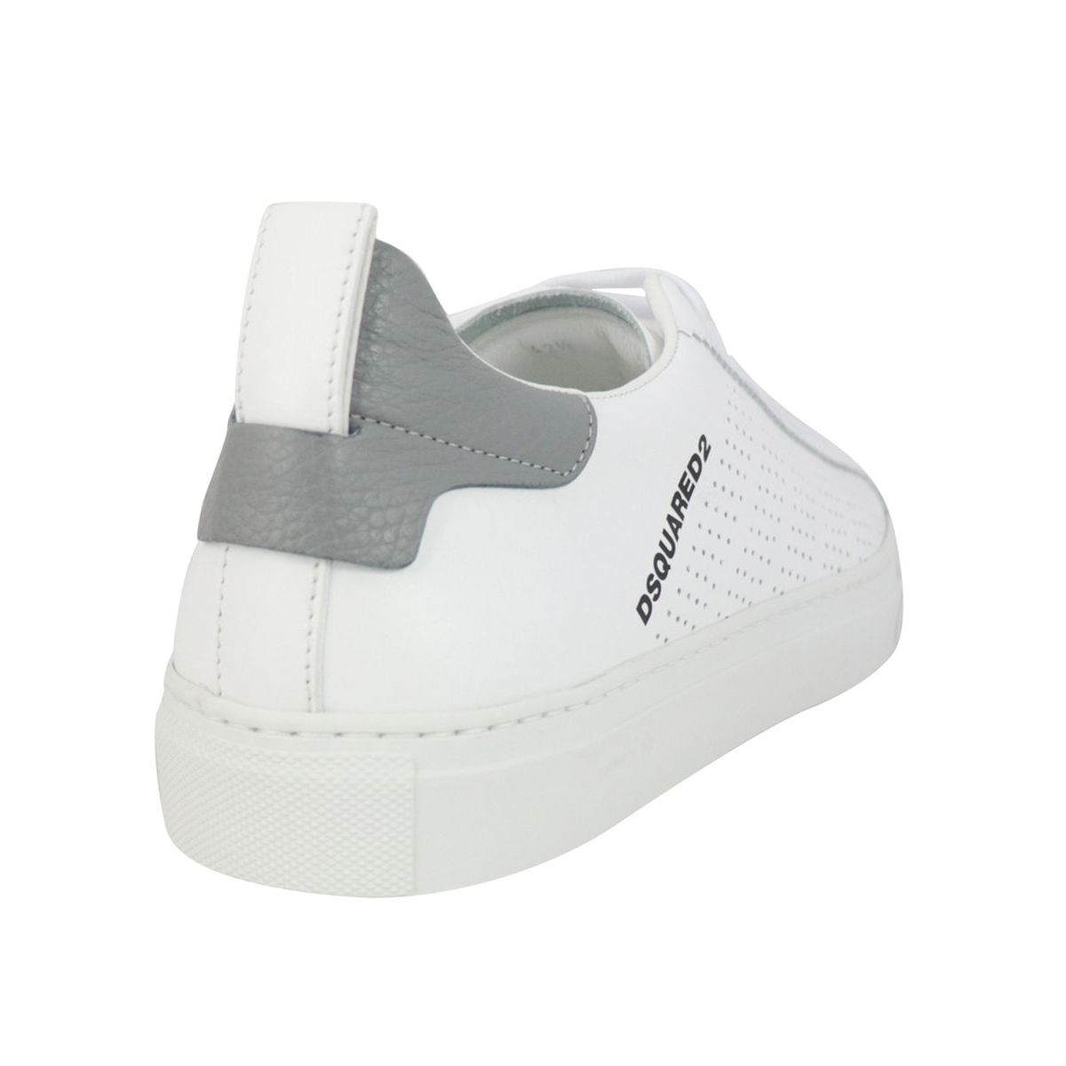 LOW SOLE LEATHER SNEAKERS White Dsquared2