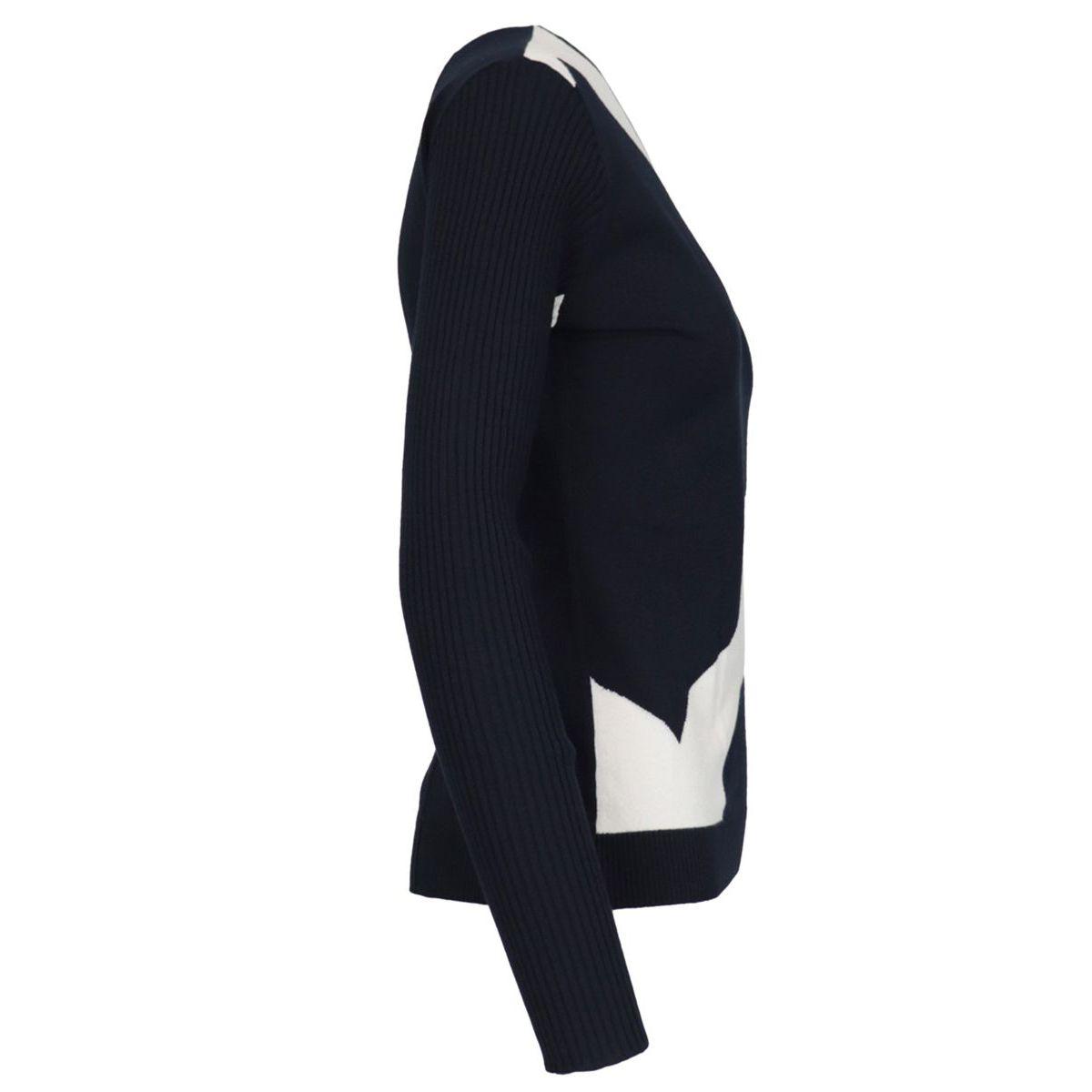 Two-tone sweater in viscose yarn Ice blue MAX MARA STUDIO