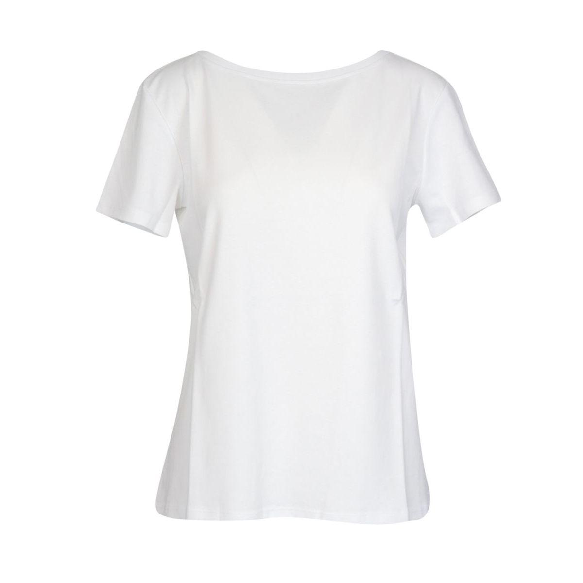 SVELTO short-sleeved T-shirt in cotton jersey Optical white MAX MARA STUDIO