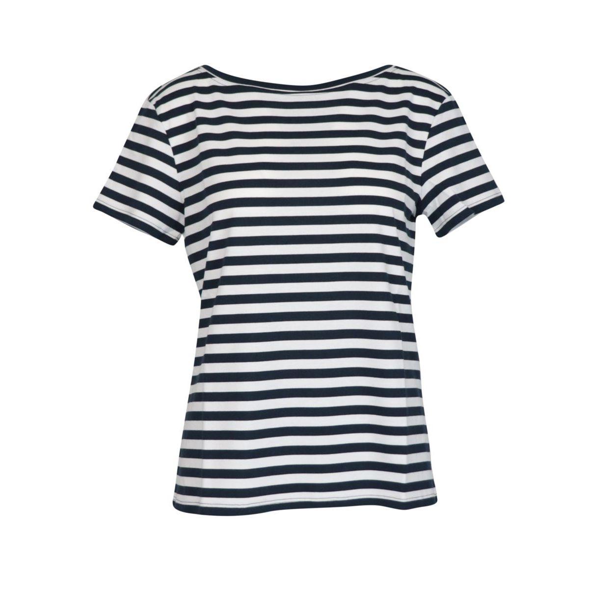 SVELTO short-sleeved T-shirt in cotton jersey White / blue MAX MARA STUDIO