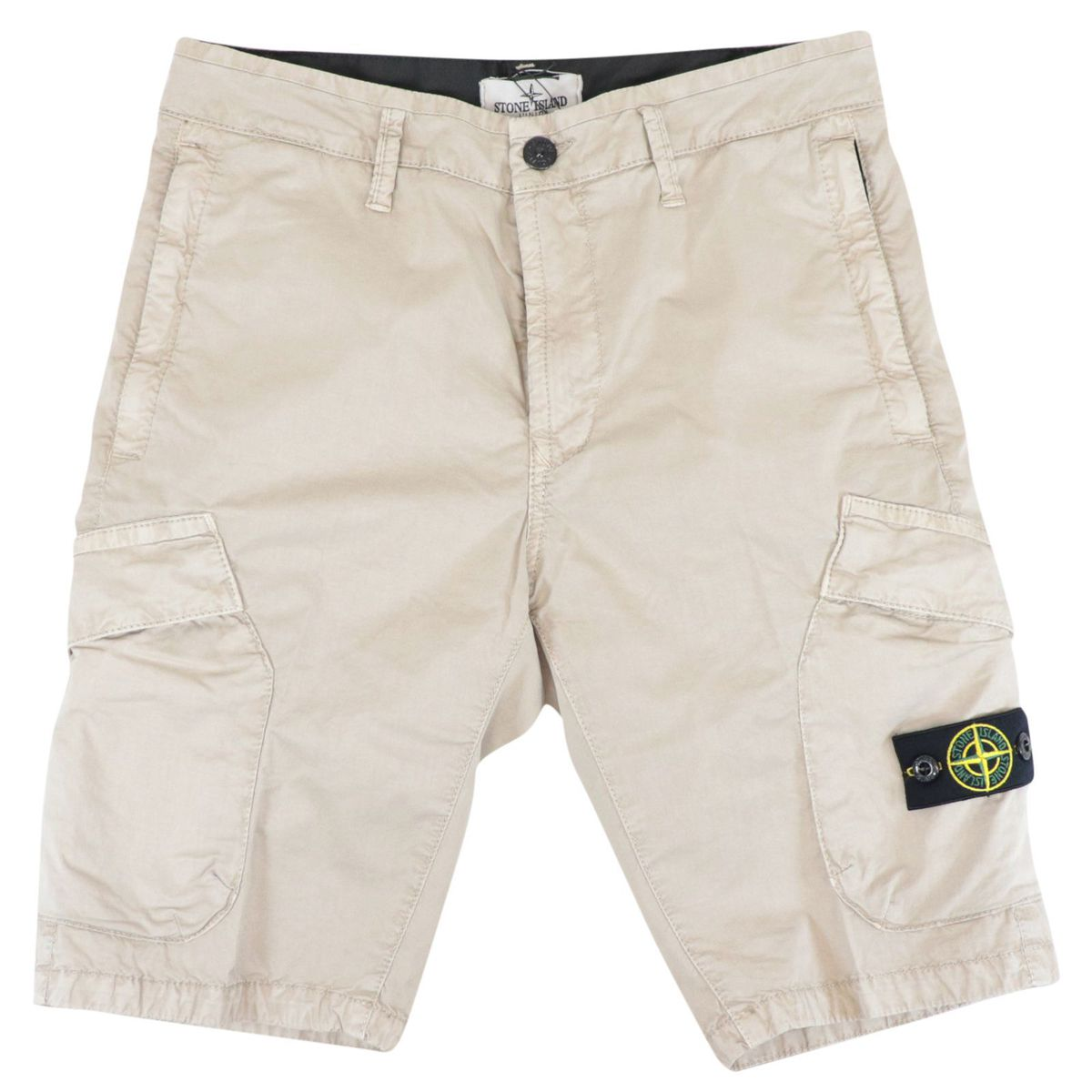 Soft stretch cotton bermuda with pockets Sand STONE ISLAND JUNIOR