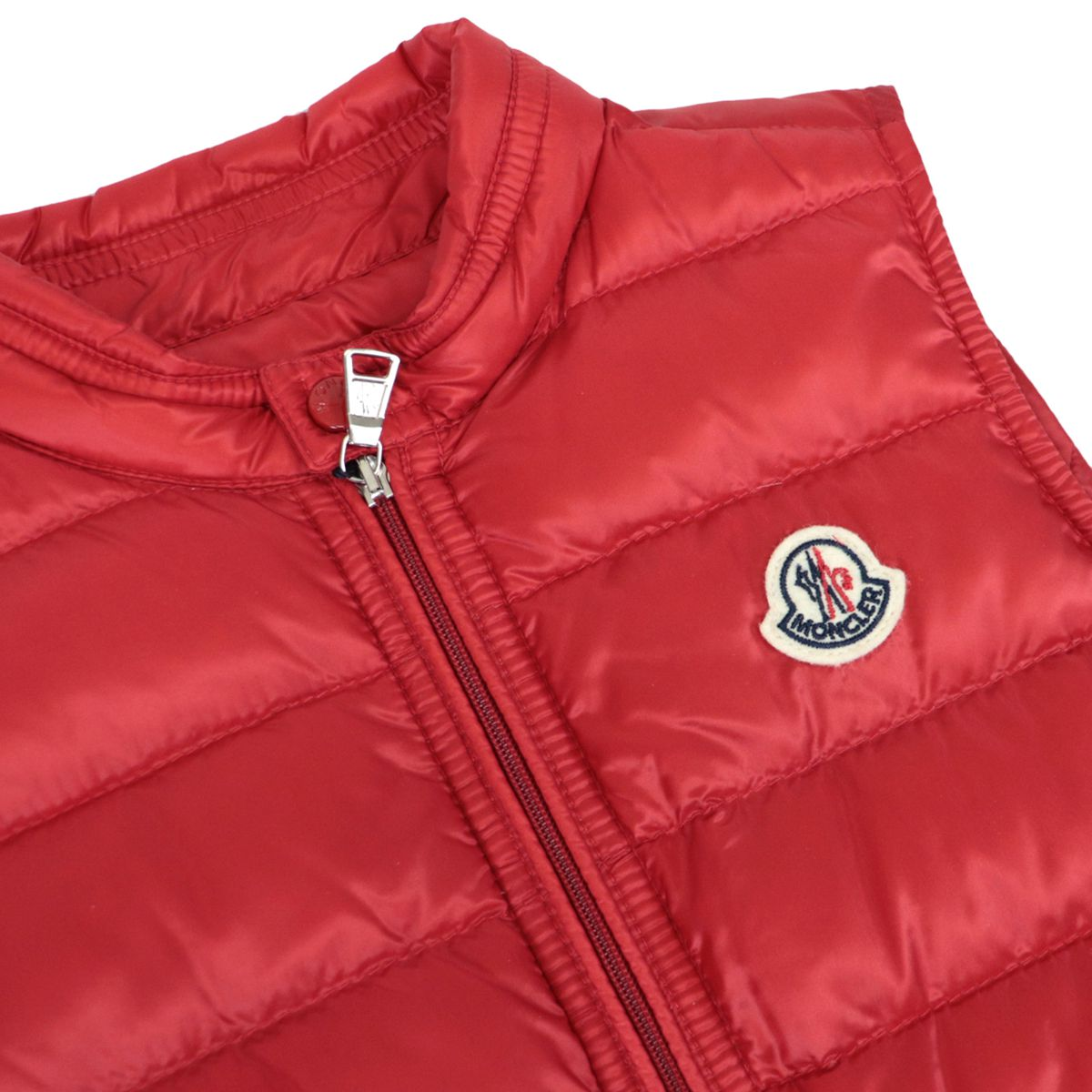 Gui vest in quilted nylon with zip and logo Red Moncler