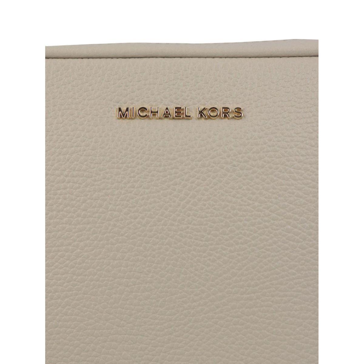 Ginny leather shoulder bag Cream Michael Kors