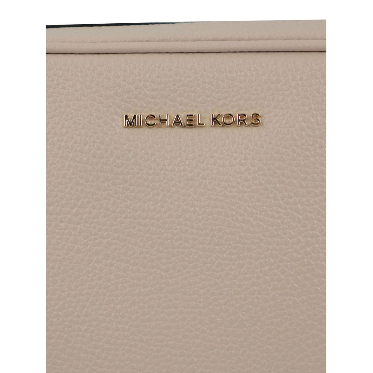 Ginny leather shoulder bag Dusty pink Michael Kors