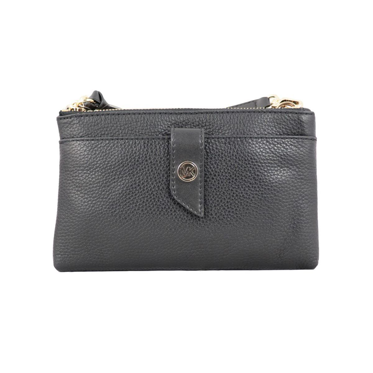 Small leather bag with double zip pockets Black Michael Kors