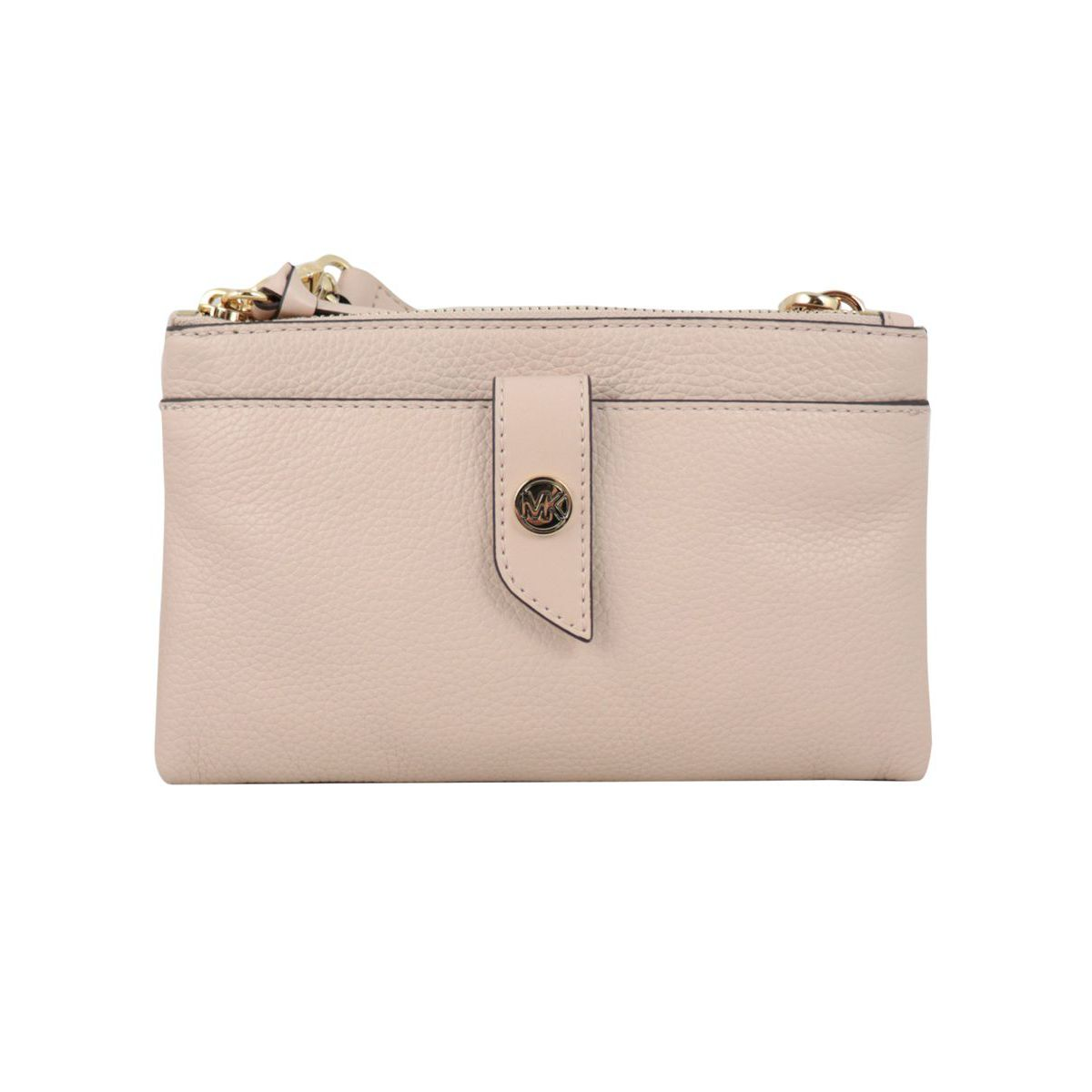 Small leather bag with double zip pockets Dusty pink Michael Kors