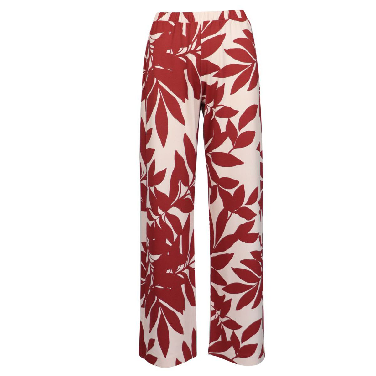 Macro-patterned jersey trousers Red / flower MAX MARA STUDIO