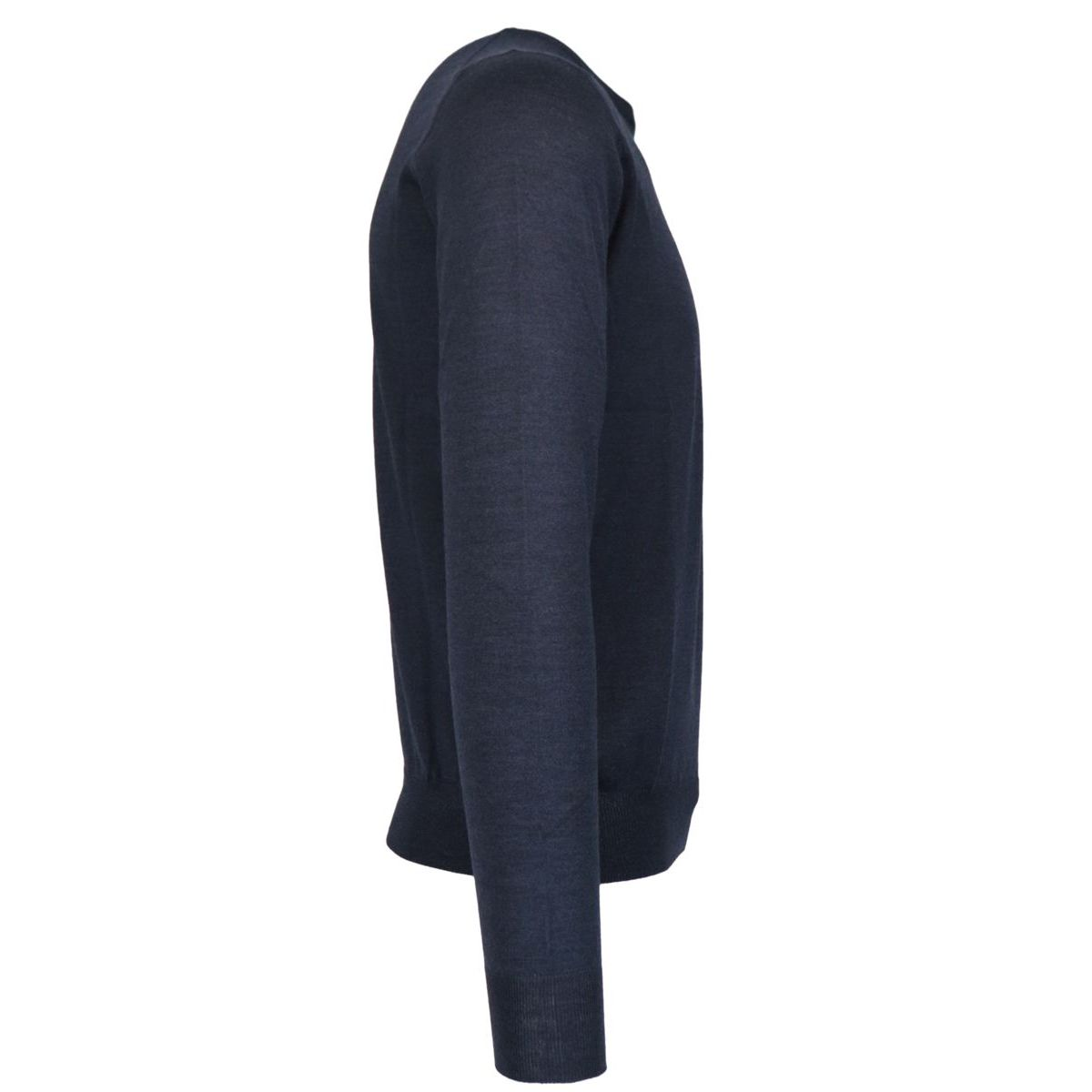 Crewneck pullover in wool and silk blend Navy Gran Sasso