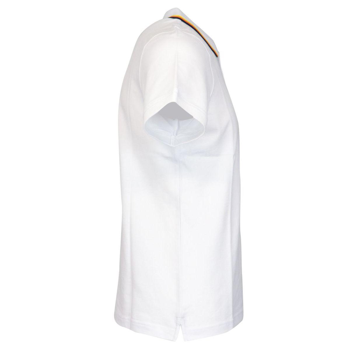 Jude Stripes cotton piqué polo shirt White K-Way