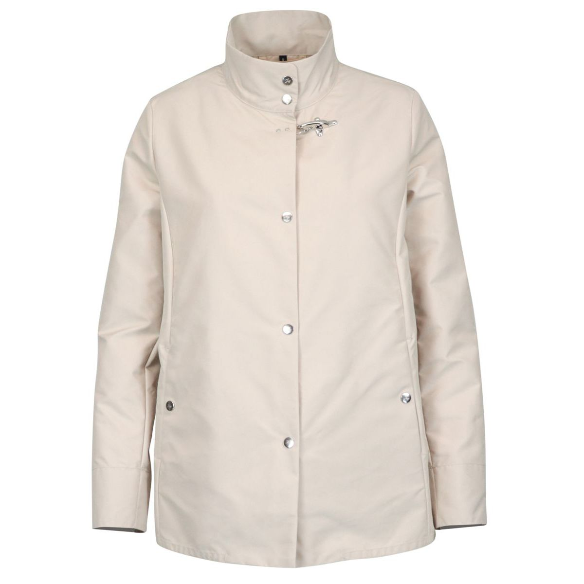 Nylon jacket with stand up collar Light beige Fay