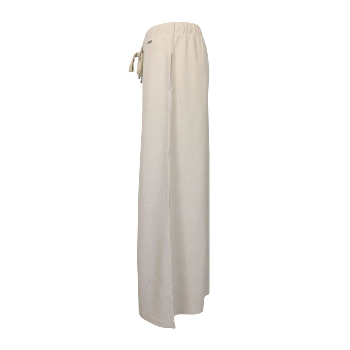 Soft crepe trousers with drawstring waist Sand Fay