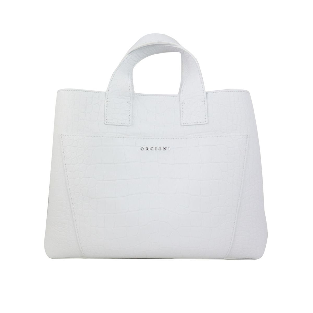 NORA bag in KINDU leather White Orciani