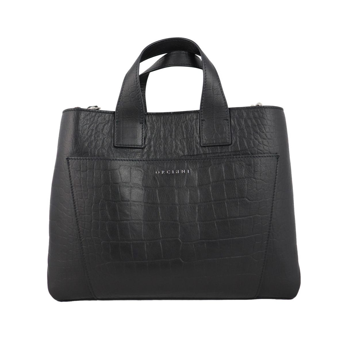 NORA bag in KINDU leather Black Orciani