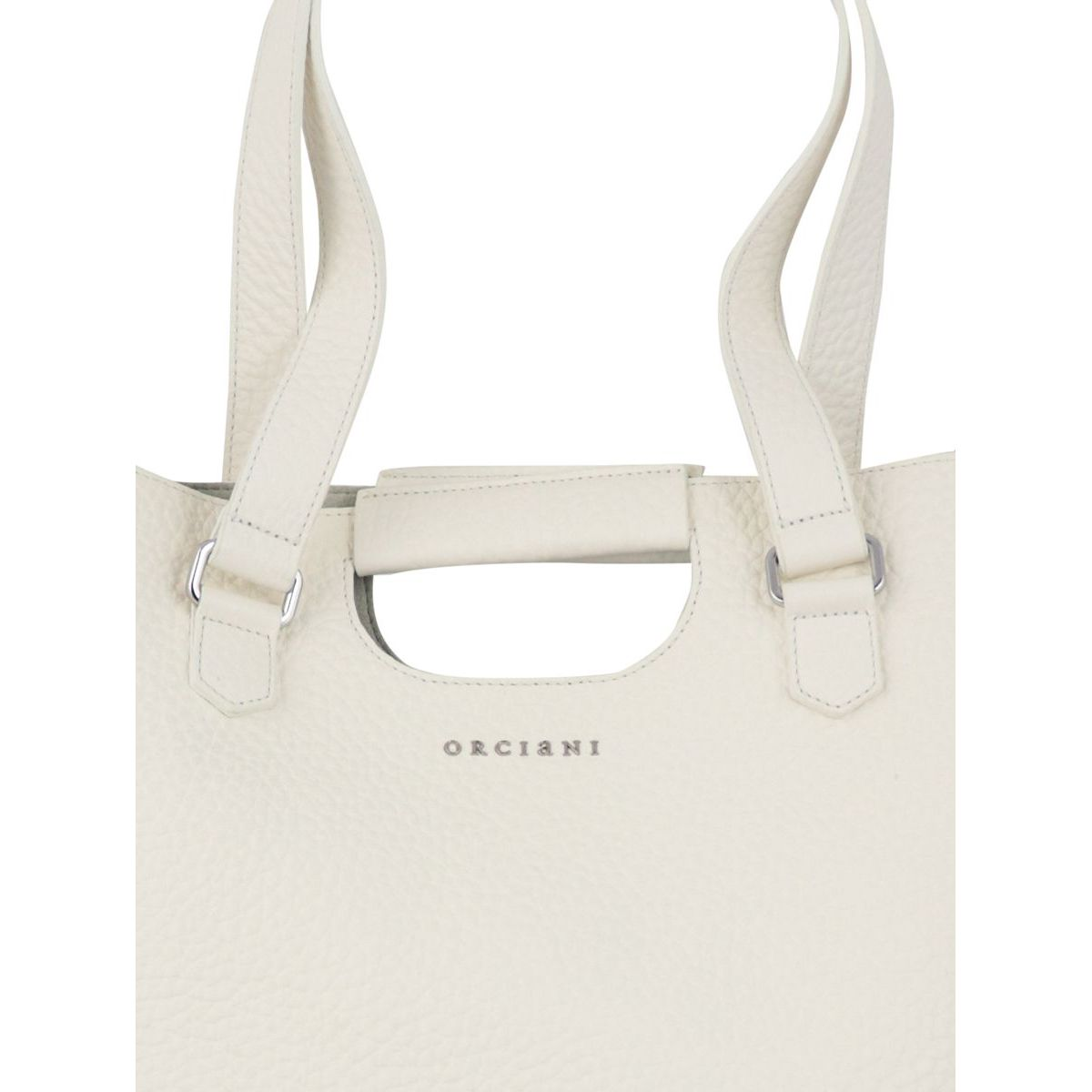 ISOTTA bag in Soft leather White Orciani