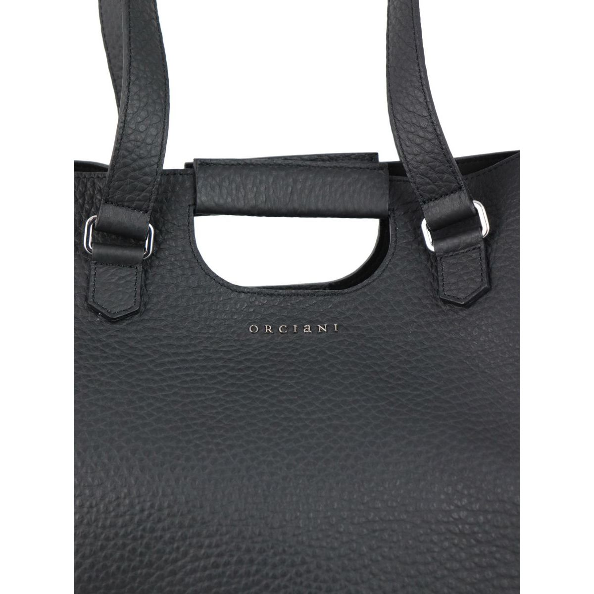 ISOTTA bag in Soft leather Black Orciani