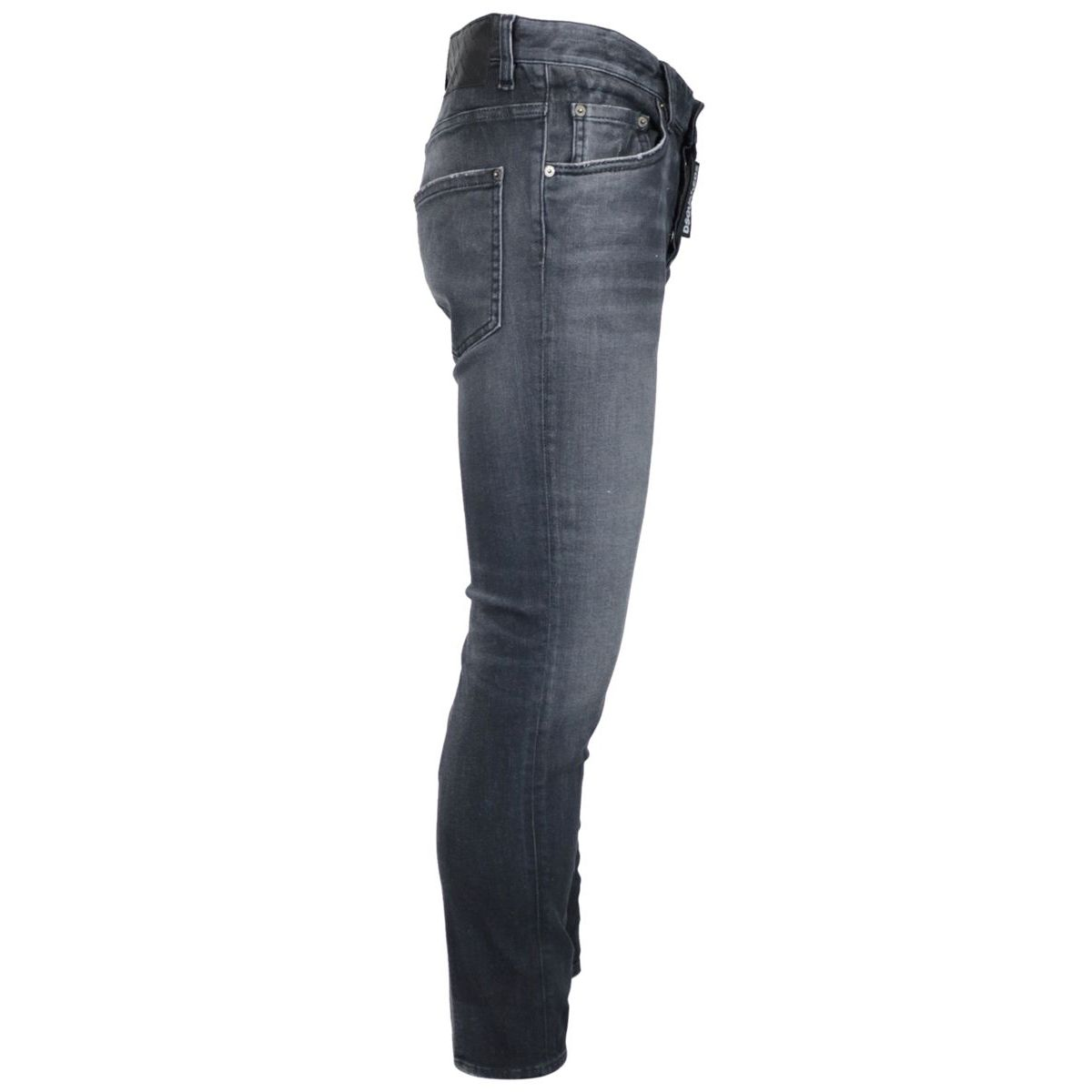 5 pockets skinny jeans in uesd effect denim Black Dsquared2
