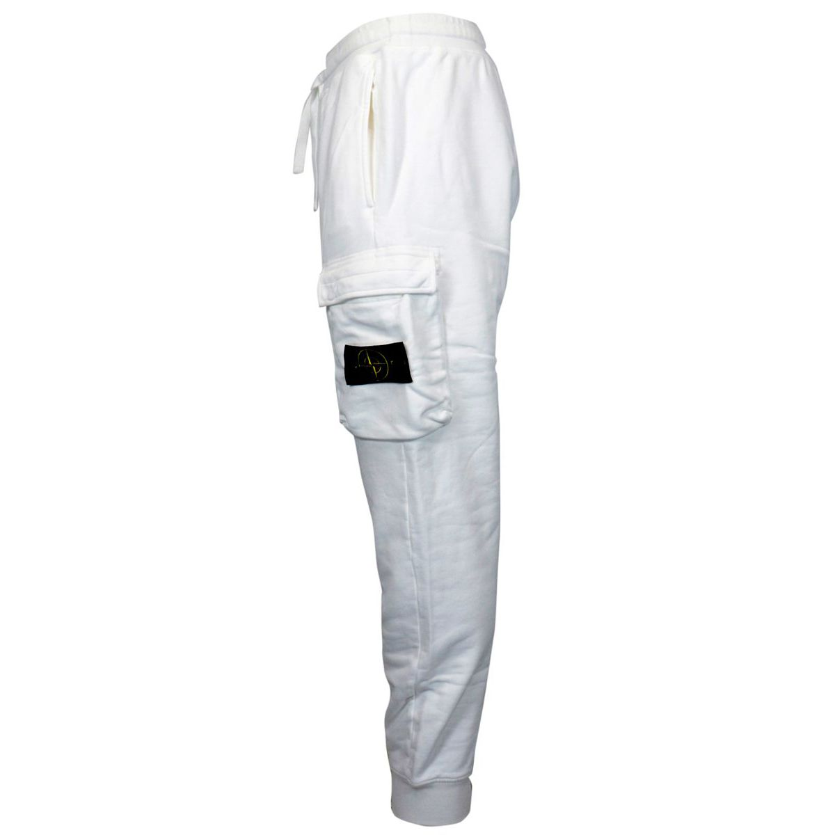 Sporty fleece trousers with cuffs and side pockets White Stone Island