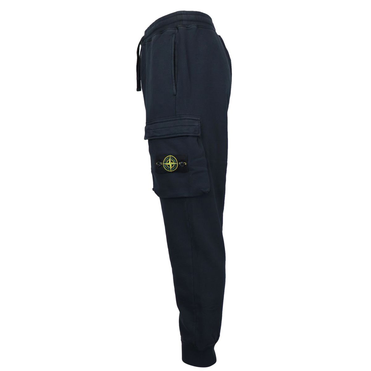 Sporty fleece trousers with cuffs and side pockets Navy blue Stone Island