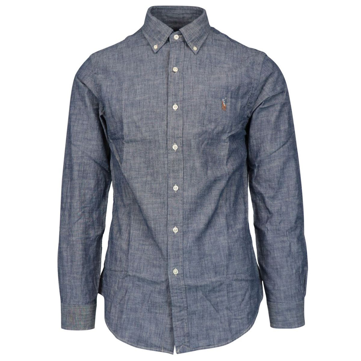 Slim-fit button-down cotton shirt Indigo Polo Ralph Lauren