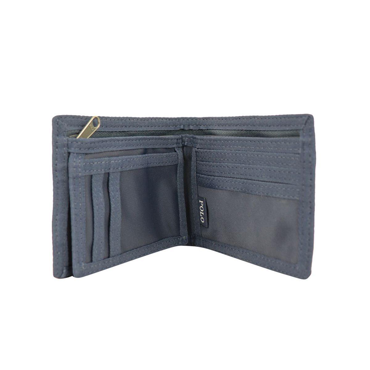 Nylon wallet with logo print Navy Polo Ralph Lauren