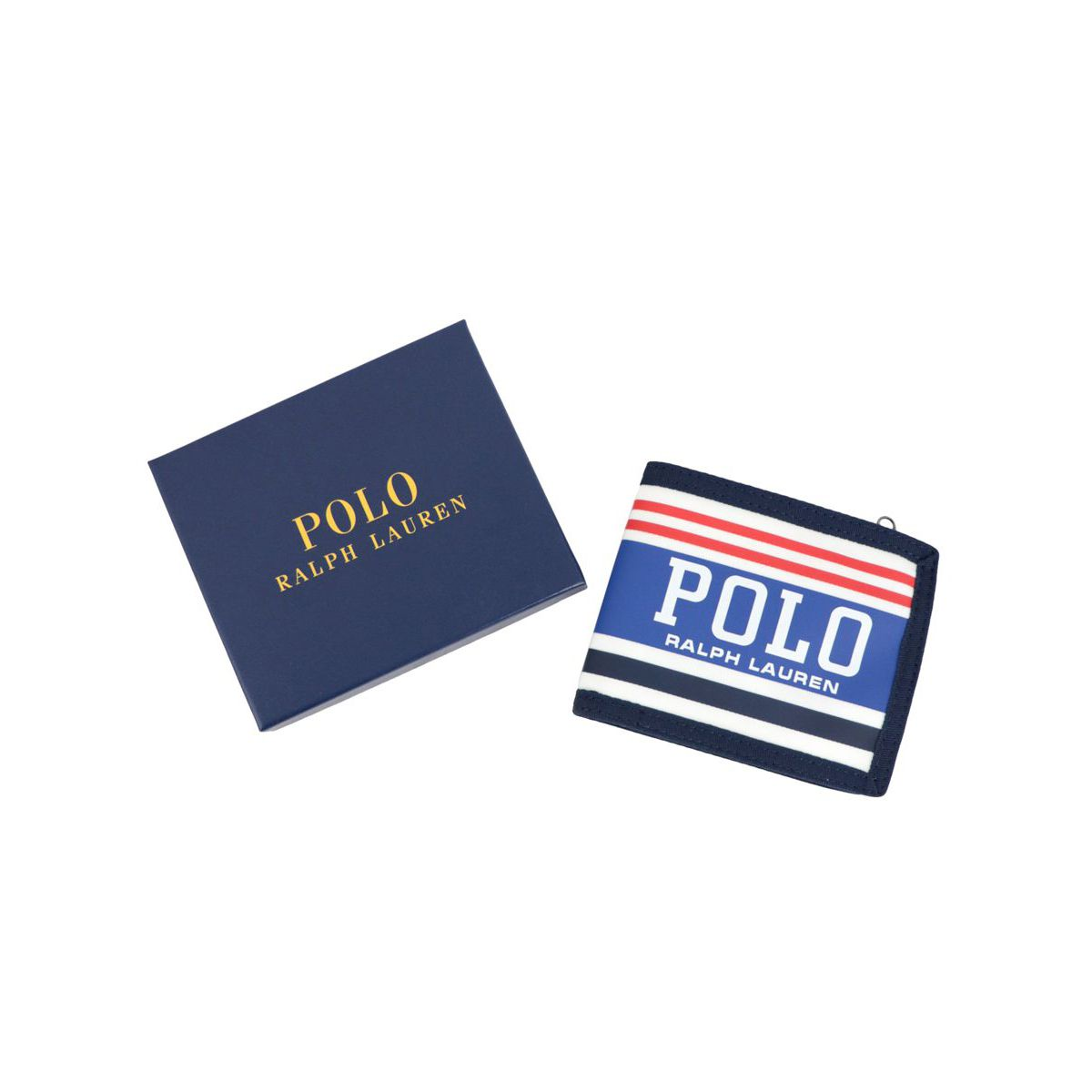 Nylon wallet with logo print Red Polo Ralph Lauren
