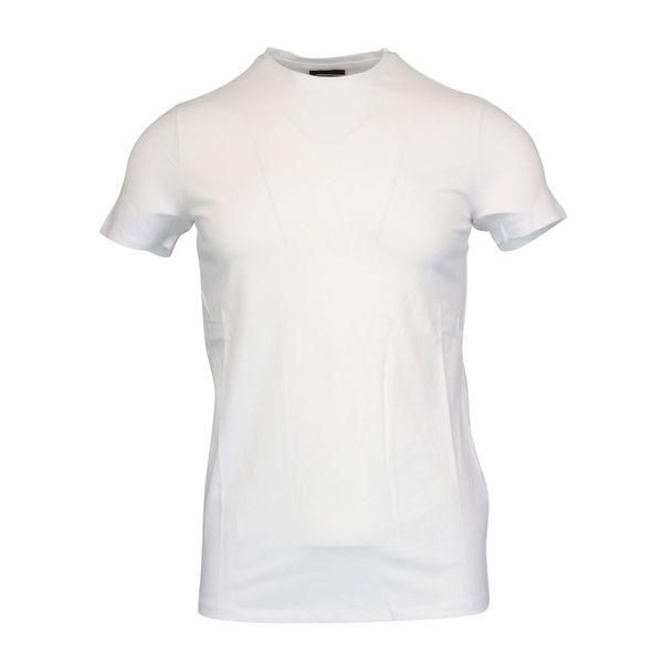 Short sleeve cotton t-shirt with small logo White Emporio Armani