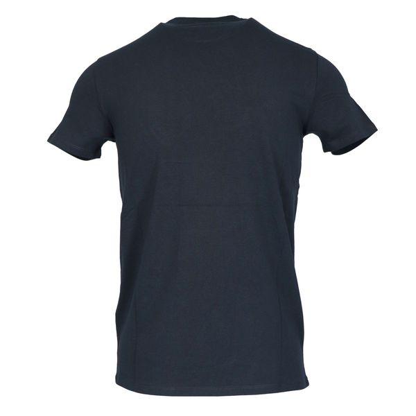 Short sleeve cotton t-shirt with small logo Blue Emporio Armani