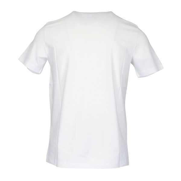 Short-sleeved cotton T-shirt with contrasting logo print White Emporio Armani