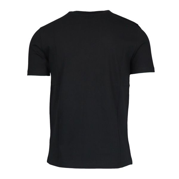 Short-sleeved cotton T-shirt with contrasting logo print Black Emporio Armani
