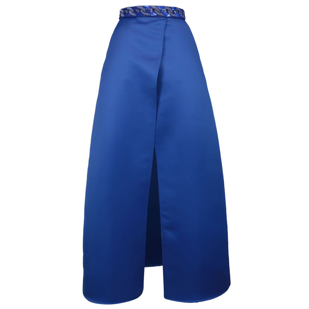 Long duchess skirt with central slit Cobalt Elisabetta Franchi