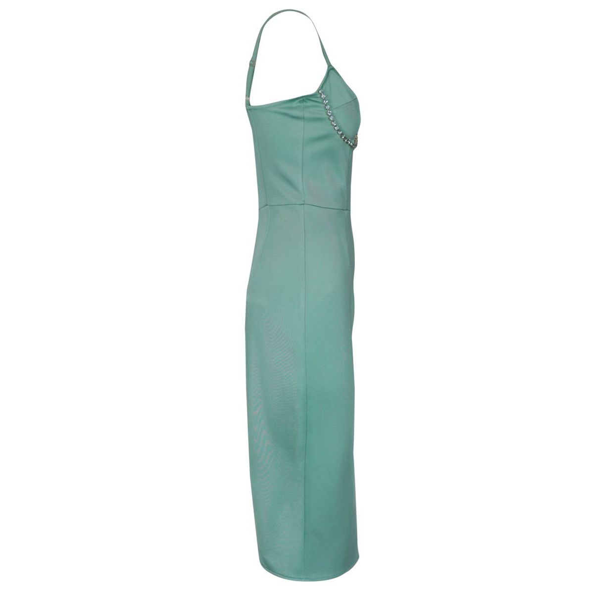 Longuettes dress in stretch viscose Green water Elisabetta Franchi