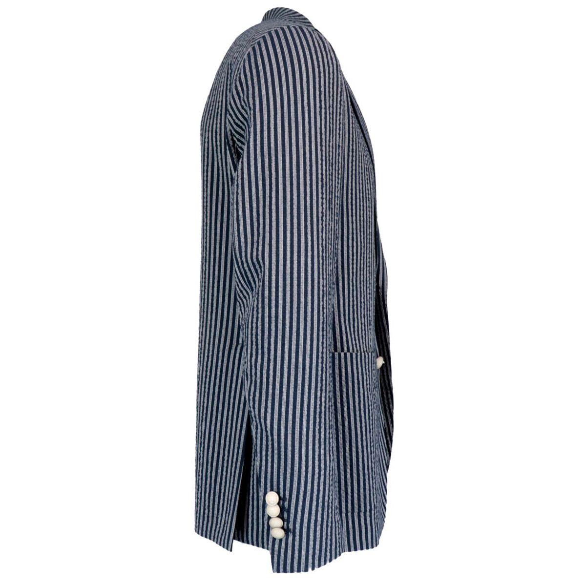 Two-button seersucker jacket Blue Tagliatore