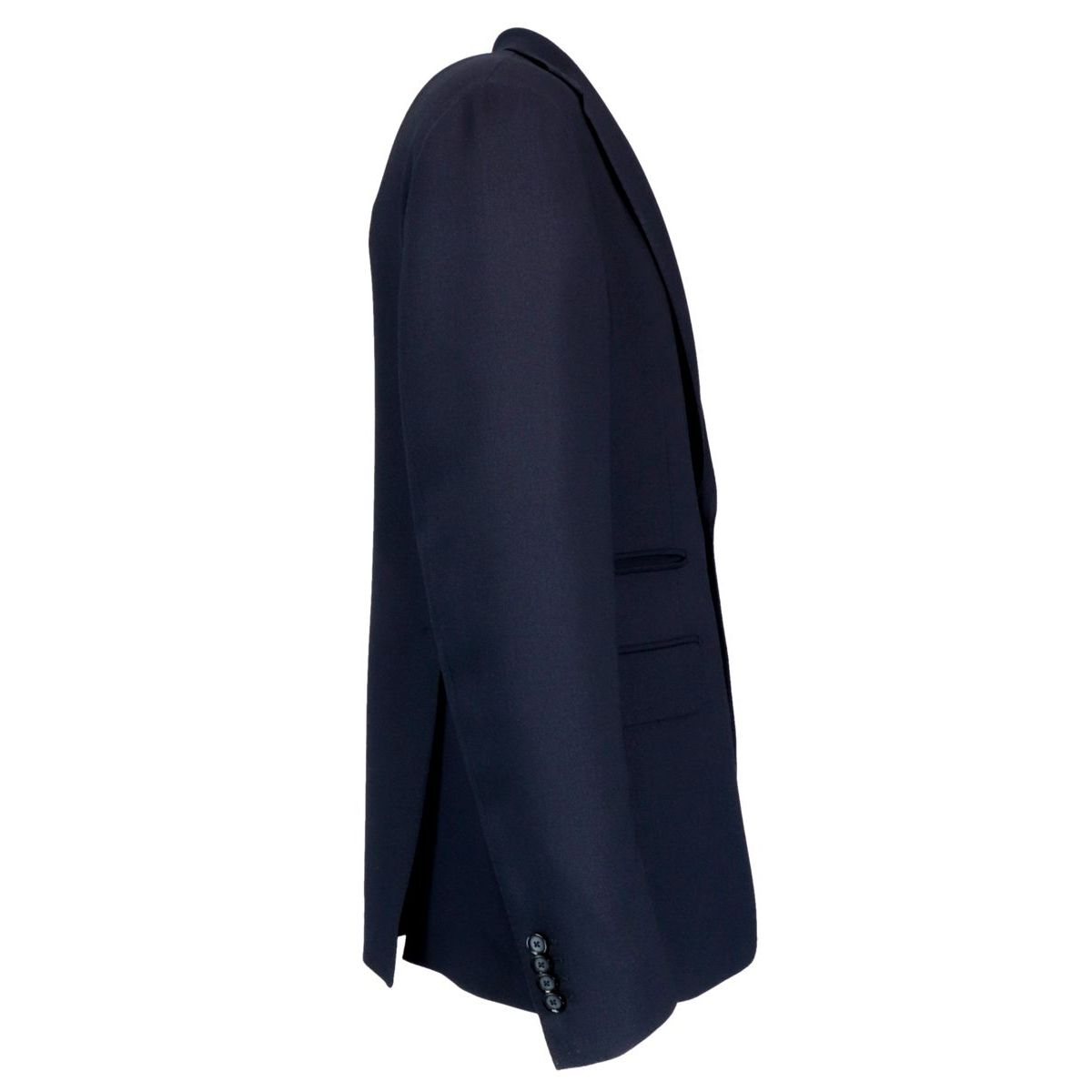 Two-button wool jacket with flap pocket Blue Tagliatore