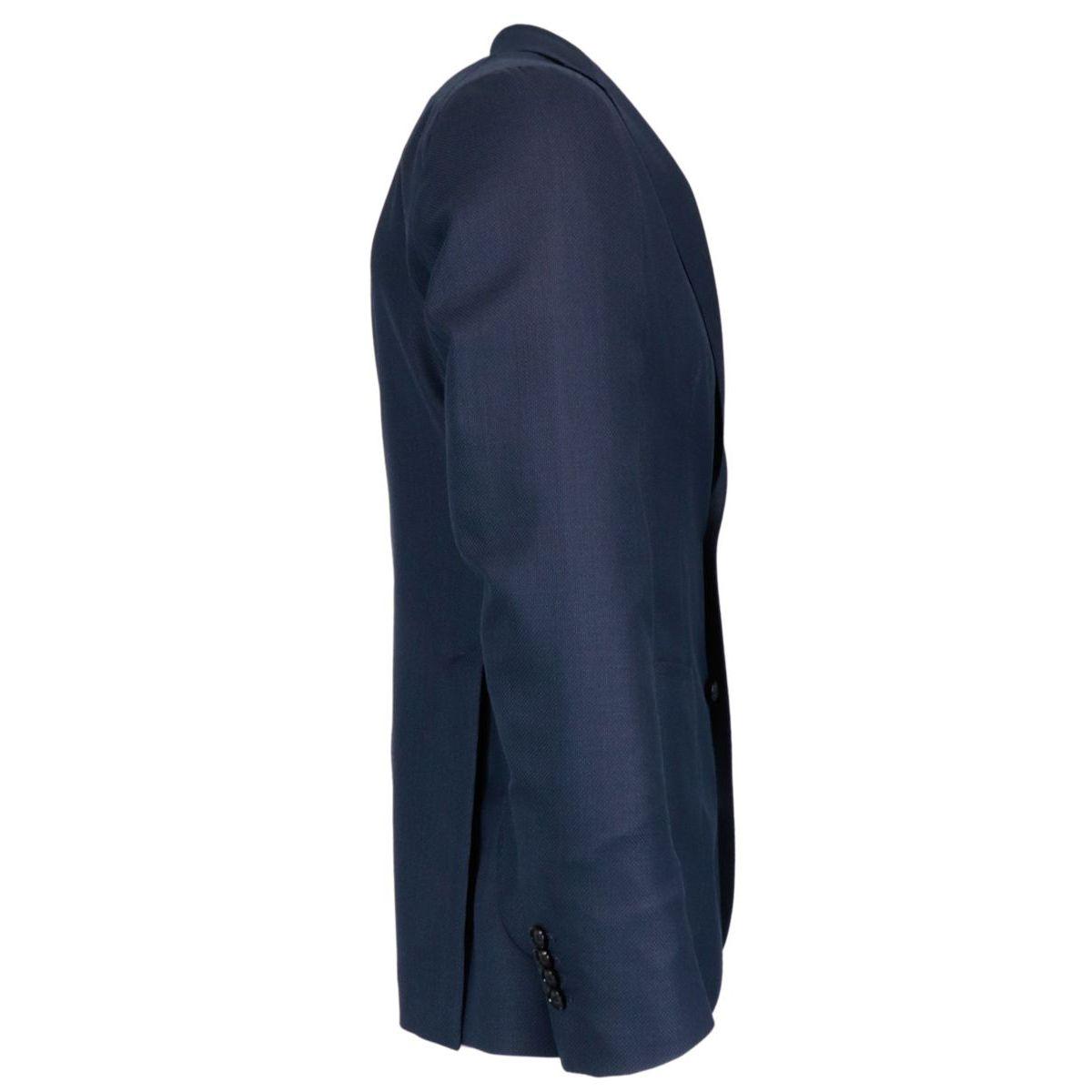 Travel jacket in hopsak wool Blue Tagliatore
