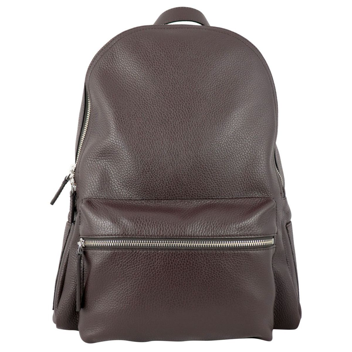 Set City Micron backpack in textured leather Ebony Orciani