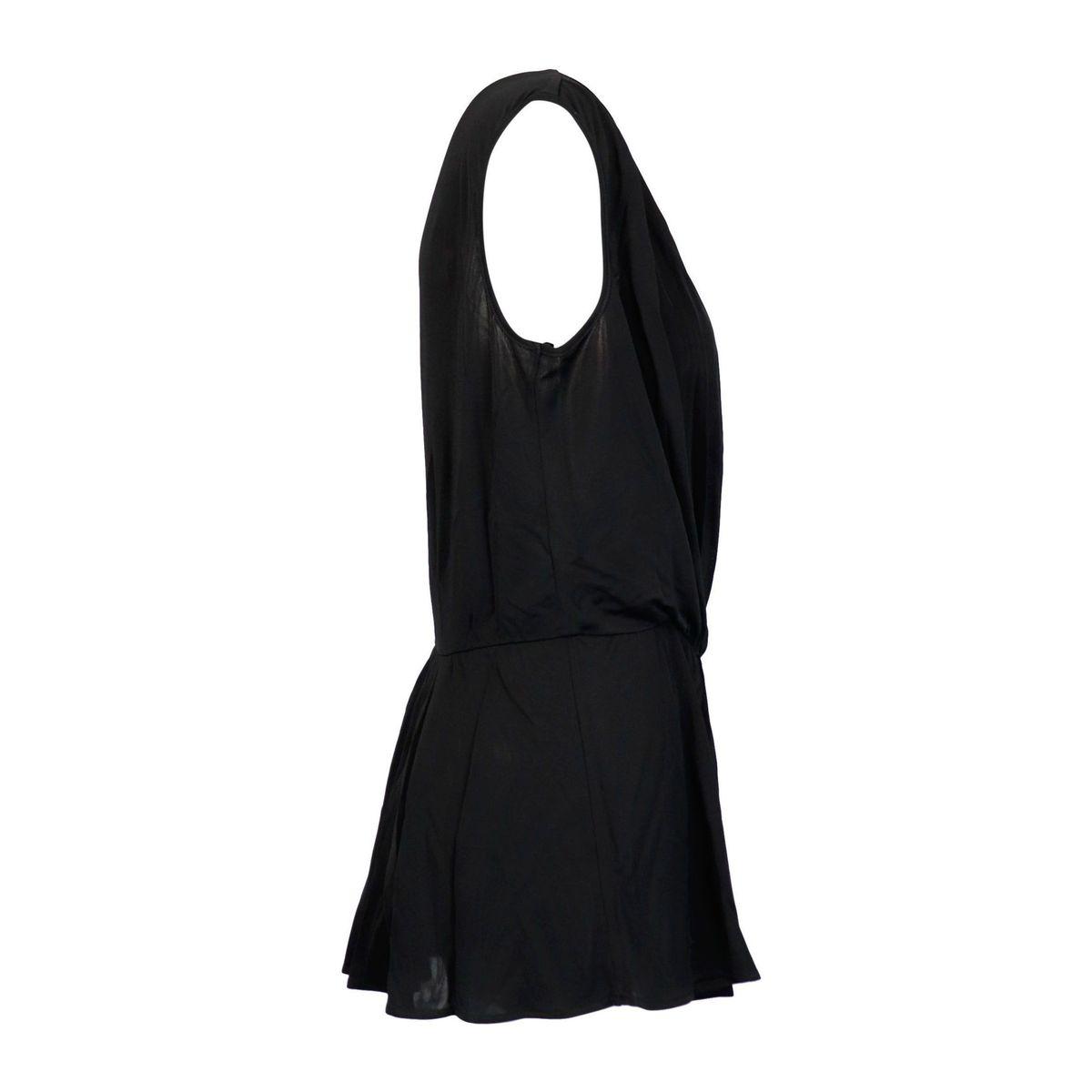 Viscose blouse with deep V-neckline Black Twin-Set