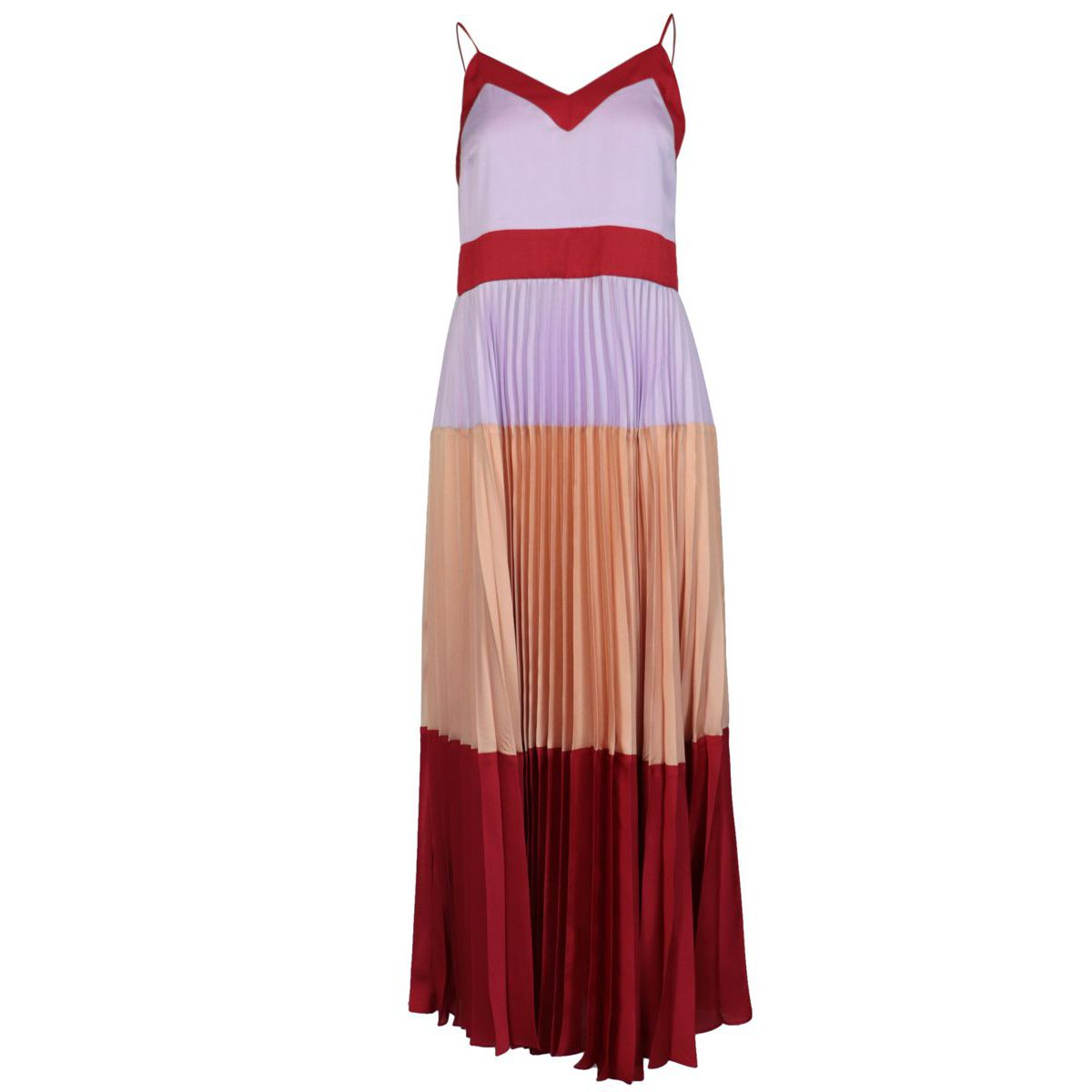 Long pleated satin petticoat dress Red / pink Twin-Set
