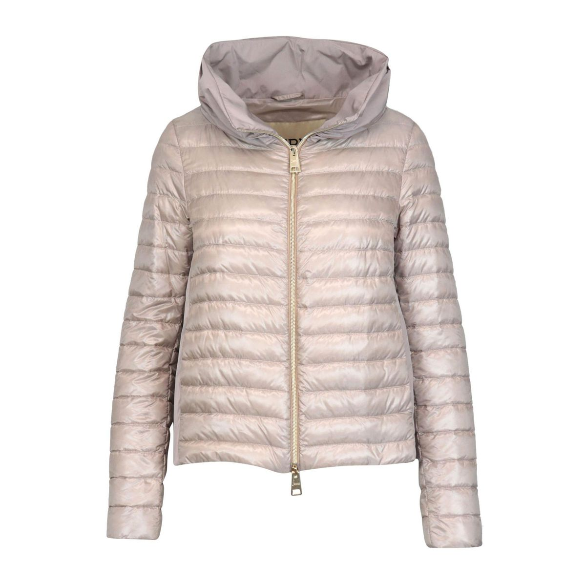 One hundred grams down jacket with ring collar and nylon back Dusty pink Herno