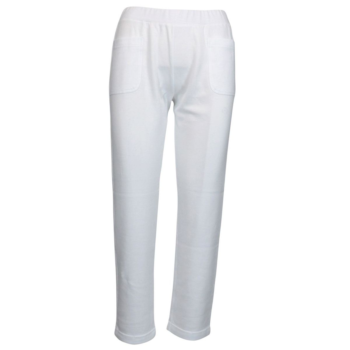 Stretch cotton trousers with patch pockets Optical white Gran Sasso