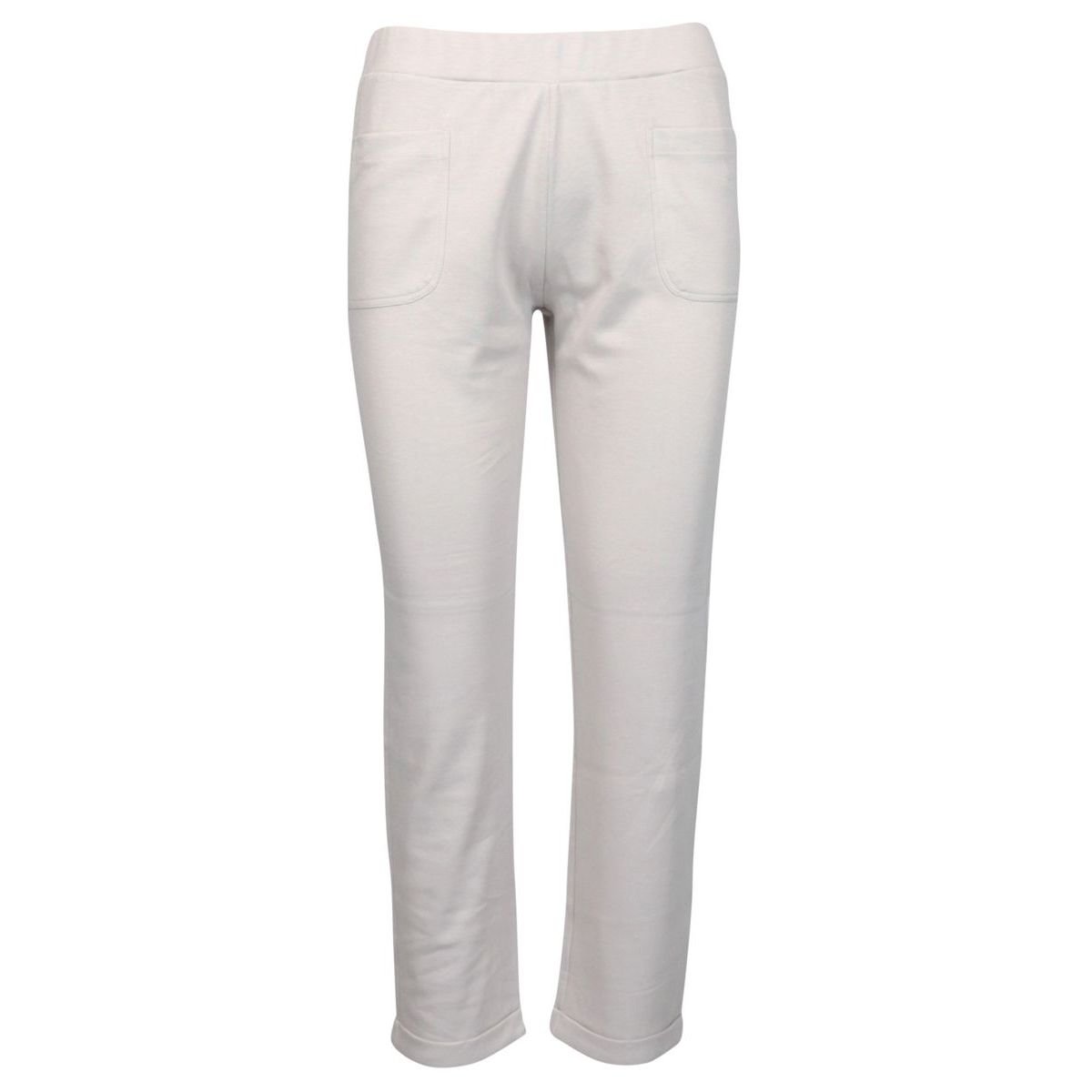 Stretch cotton trousers with patch pockets Face powder Gran Sasso