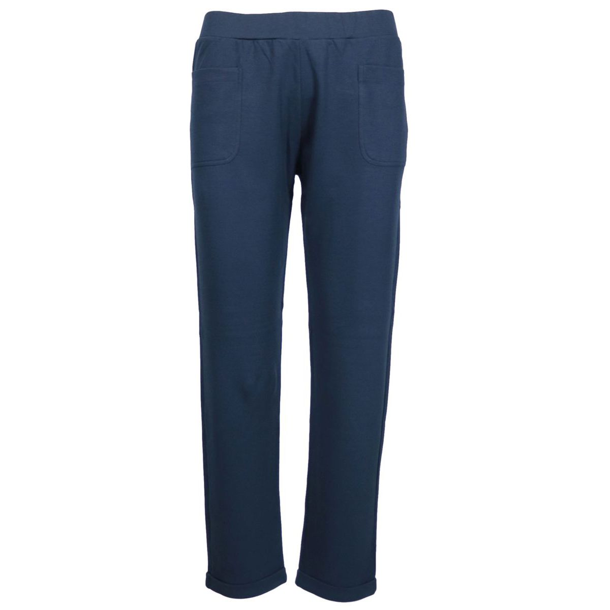 Stretch cotton trousers with patch pockets Navy Gran Sasso