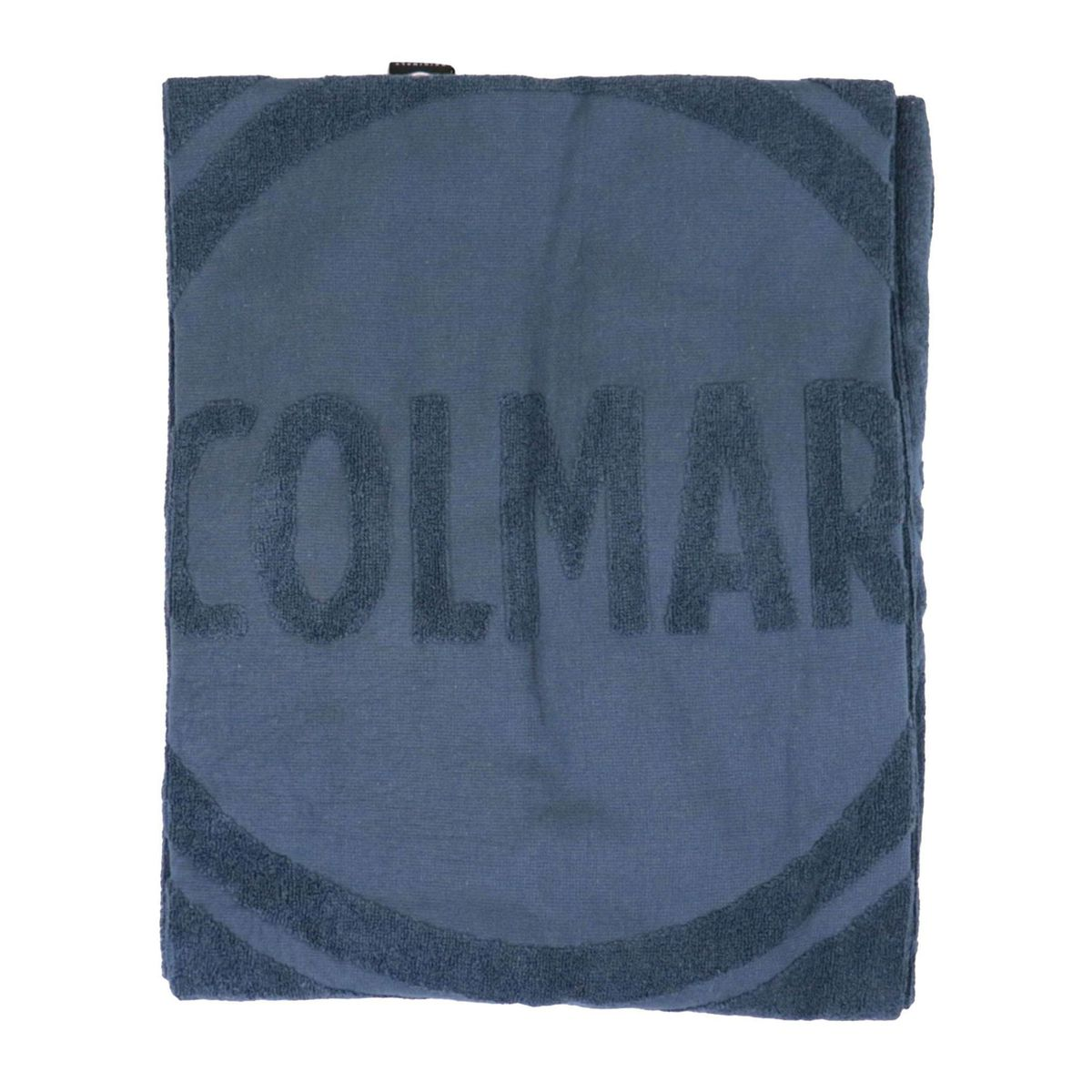 Cotton terry beach towel convertible into a bag Blue Colmar