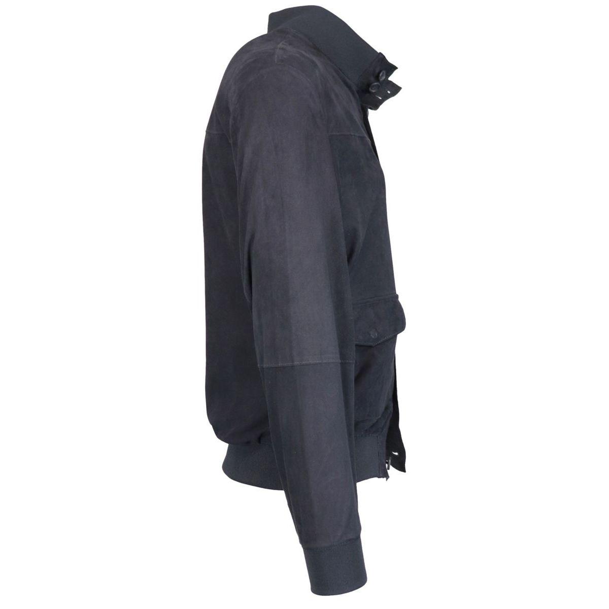 Carlos jacket in suede Ocean Andrea D'amico