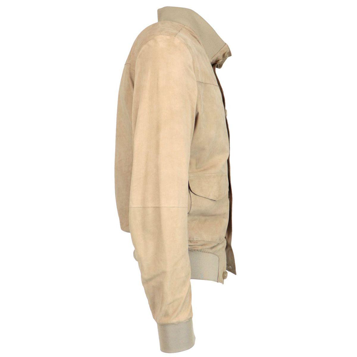 Carlos jacket in suede Sand Andrea D'amico