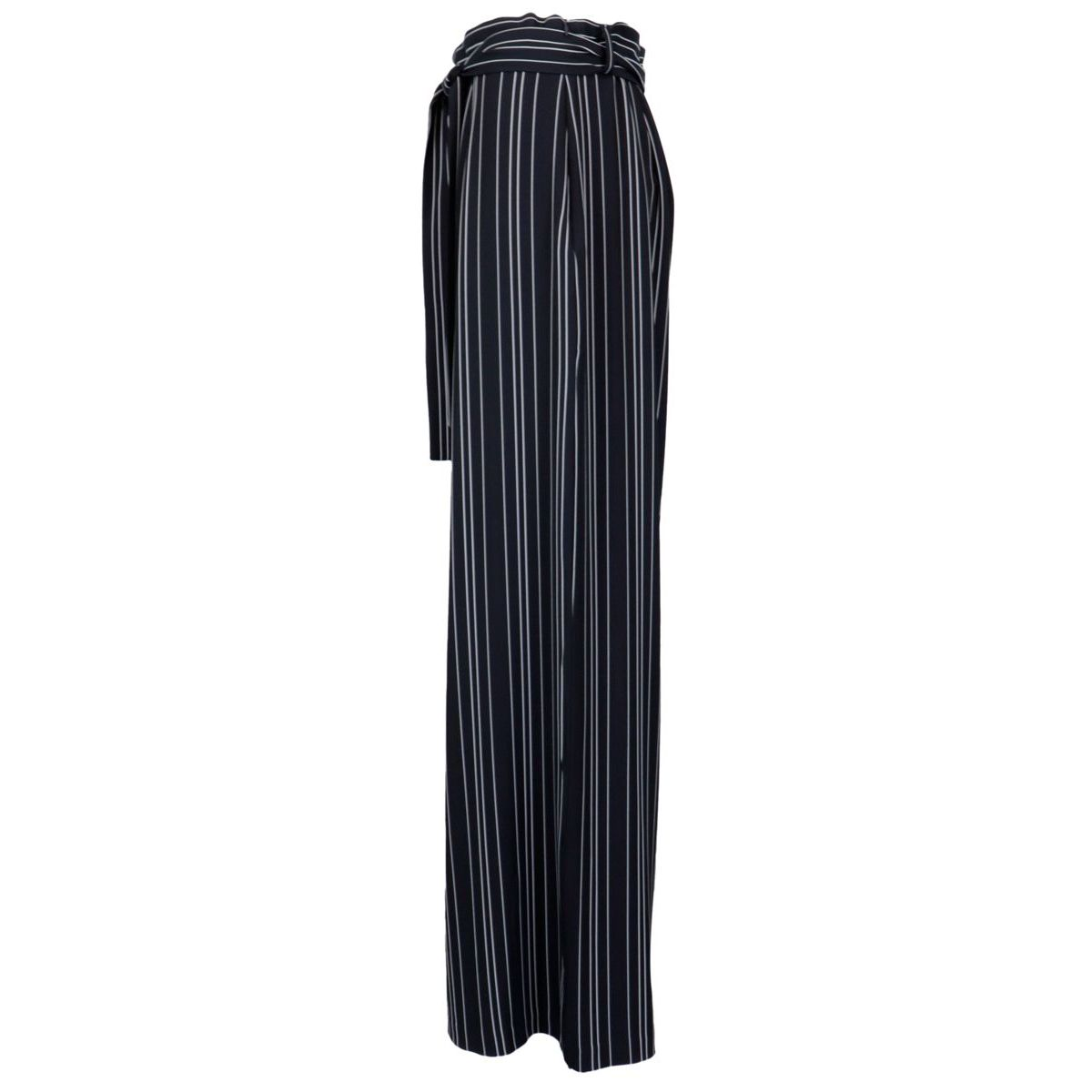 Wide trousers in pinstripe fabric with belt Blue / white Joseph Ribkoff