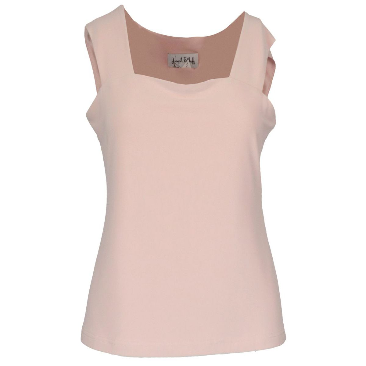 Crepe tank top with straight neckline Pink Joseph Ribkoff