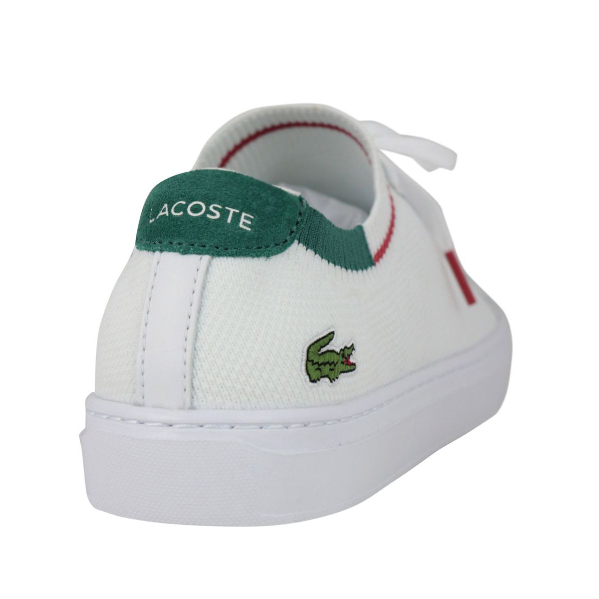 La Piquee fabric sneakers with box bottom White Lacoste