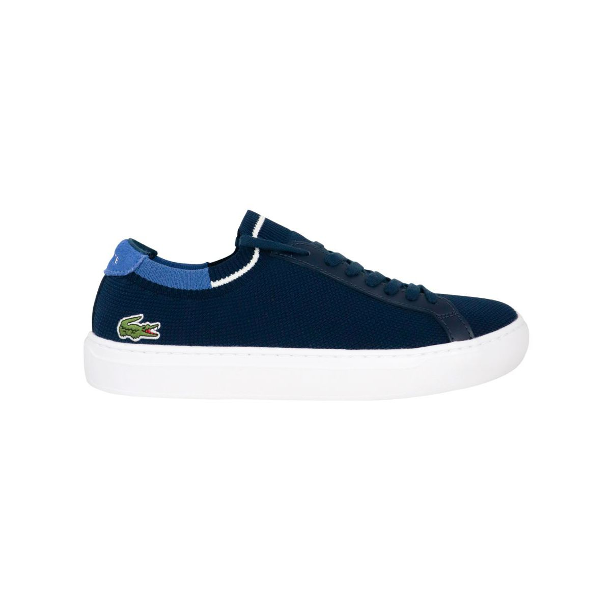 La Piquee fabric sneakers with box bottom Blue Lacoste
