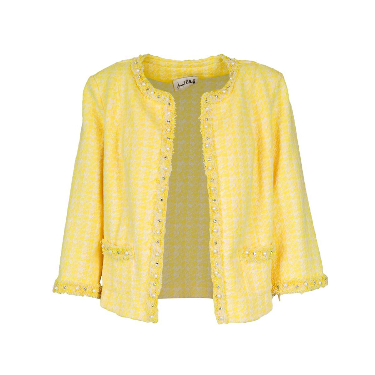 Chanel model jacket in cotton blend Yellow Joseph Ribkoff