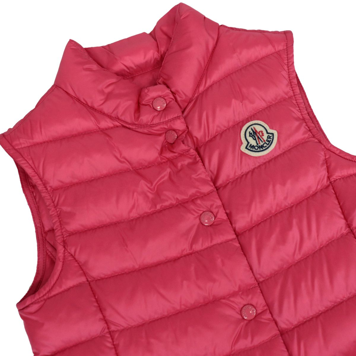 Liane waistcoat in quilted nylon with logo Fuchsia Moncler